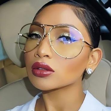 Stylish See-Through Metal Sunglasses