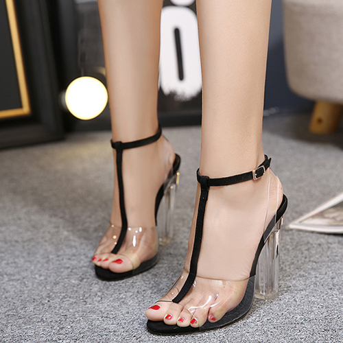 Plastic Chunky Super High Fashion Sandals