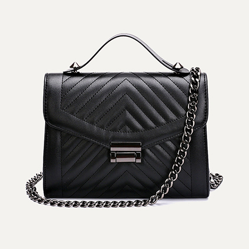 Fashion Black PU Shoulder Bags