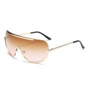 Fashion Tawny Metal Sunglasses