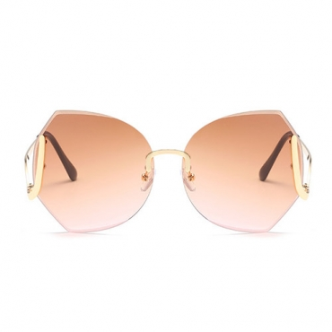 Stylish Tawney Metal Sunglasses