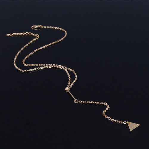 Fashion Tassel Design Gold Metal Necklace