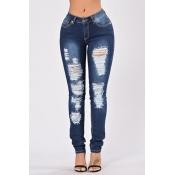 Lovelydenim Solid Zipper Fly Mid Regular Pants Jeans