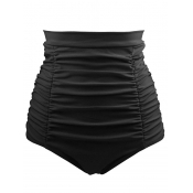 Sexy High Waist Black  Polyester Shorts