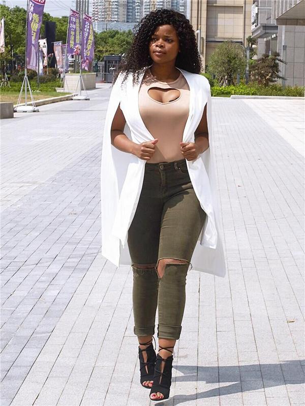 Manteau à manches à la mode à manches longues