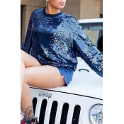 Relax, sequined hoodie