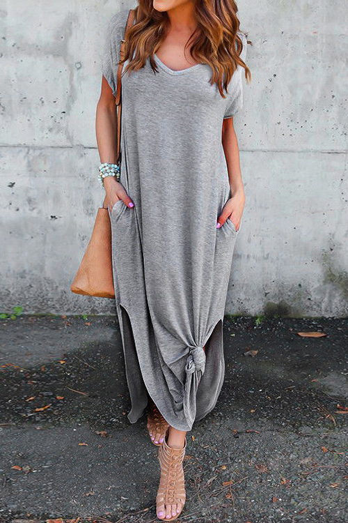 Fashion See Me Pocket Maxi Casual Dress