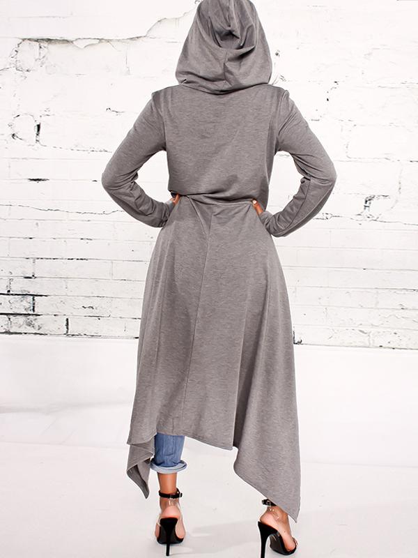 Ocio cuello redondo mangas largas algodón gris mezclas suéteres