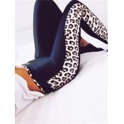Leisure elástico de la cintura de impresión de leopardo Polyester Legg
