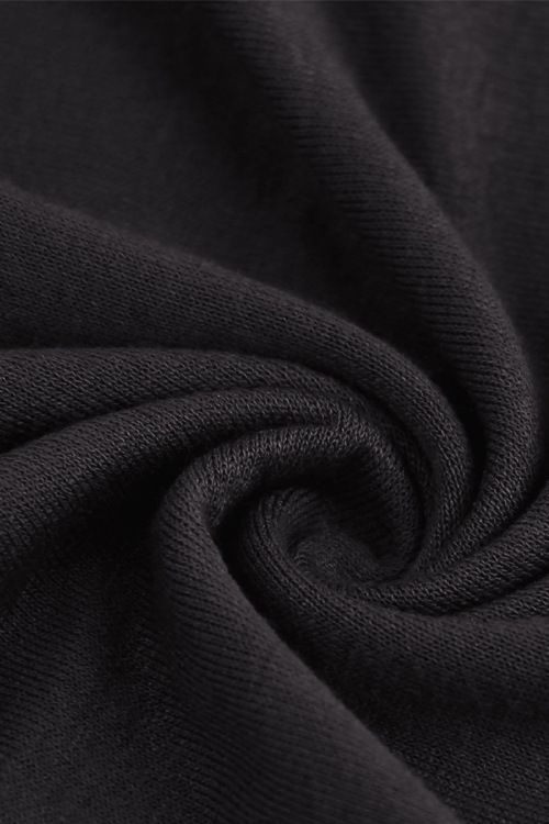 Sexy Dew Shoulder Long Sleeves Hollow-out Black Cotton Blends Shirts