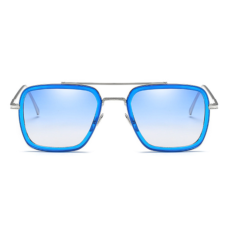 Fashion Hollow-out Blue PC Sunglasses