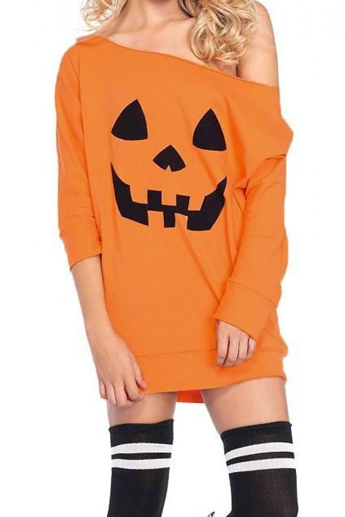 Halloween Night Dew Shoulder T-shirt