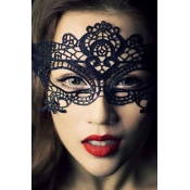 Stylish Hollow-out Black Lace Cosplay Costumes