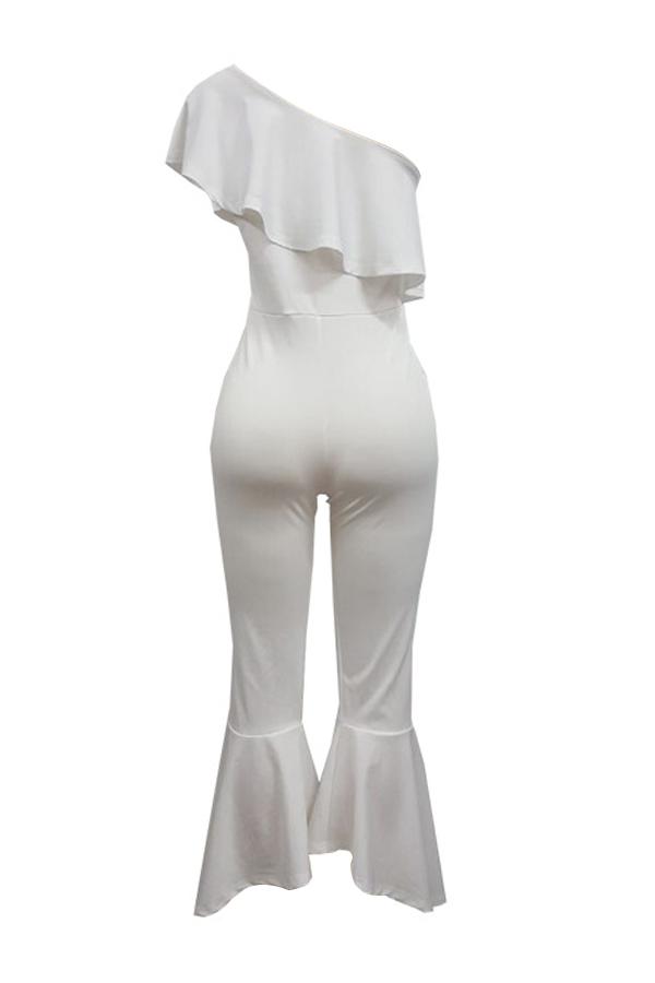 Ombro Dew De Moda Falbala Design Branco De Poliéster Mochilas De Uma Peça