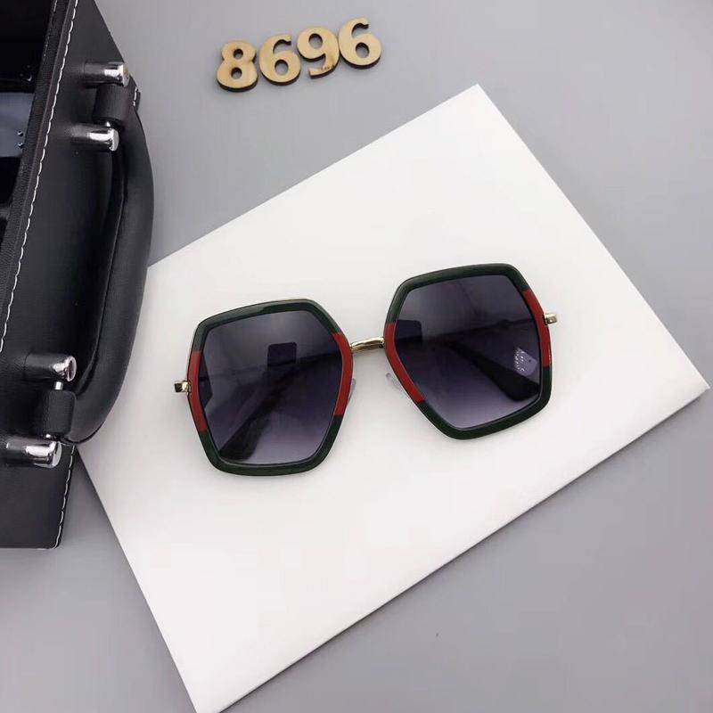 Euramerican Asymmetrical Black Plastic Sunglasses
