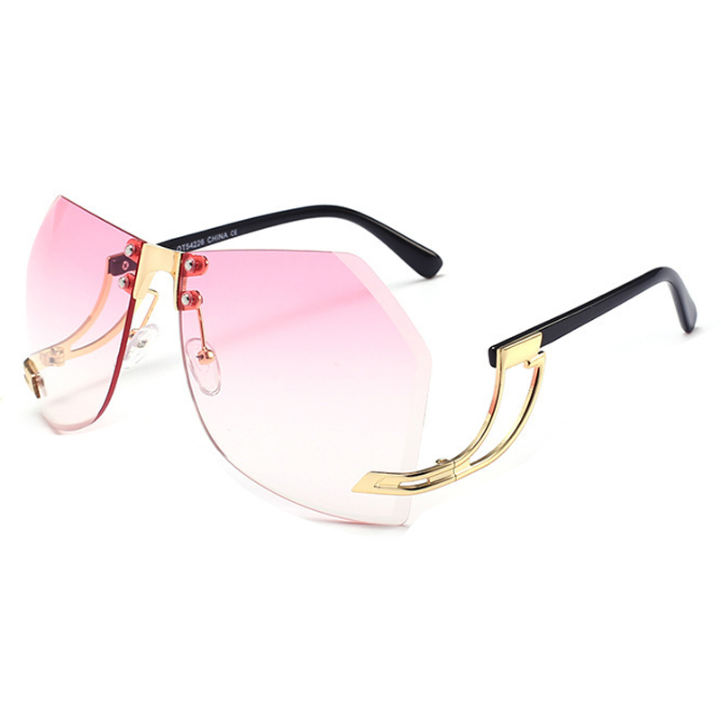 Óculos De Sol De Moda Rosa De Plástico