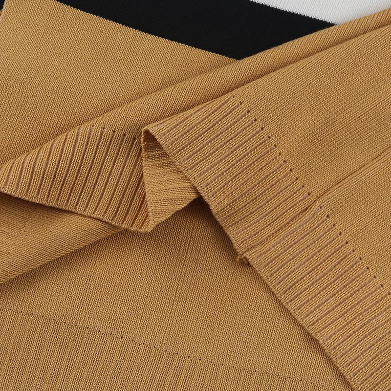 Euramerican Long Sleeves Patchwork Yellow Cotton Cardigans