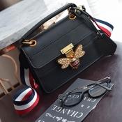 Fashion Patchwork Black PU Clutches Bags