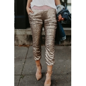 Lovely Fashionable Mid Waist Rose Gold Polyester P