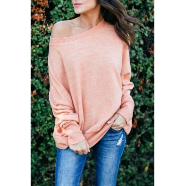 Lovely Leisure Round Neck Pink Cotton Blends T-shirt