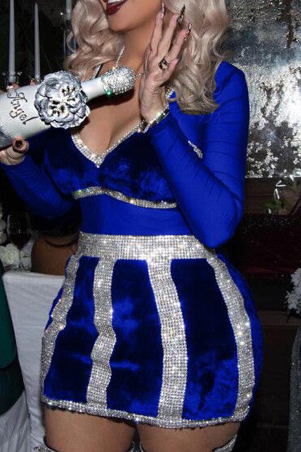 Сексуальная Мини-платье С Бриллиантом