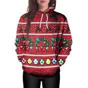 Euramerican Hooded Collar Christmas Printed Polyes