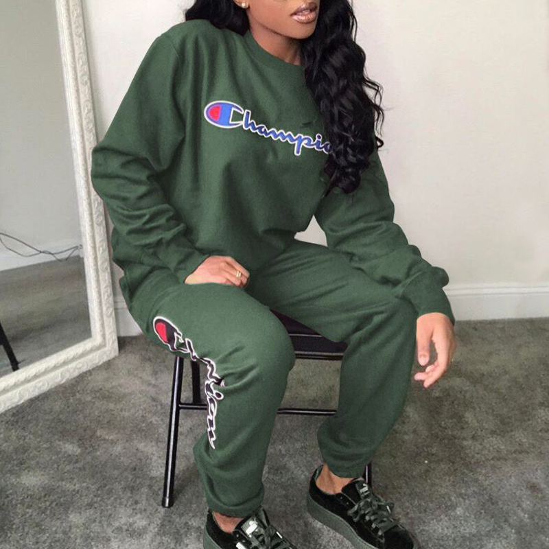 Lovely Leisure Round Neck Letters Printed Army Green Cotton Blends One-piece Jumpsuits
