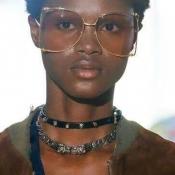 Lovely Retro Big Frame Design Brown PC Sunglasses