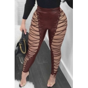 Lovely Fashion High Elastic Waist Lace-up Hollow-o