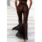Lovely Sexy High Elastic Waist Mesh Hollow-out Fla