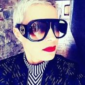 Lovely Fashion Rivet Decorative Black PC Sunglasses