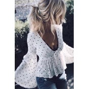 Lovely Fashion V Neck Flared Sleeves Non Positioni