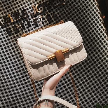 Lovely Fashion White PU Crossbody Bag