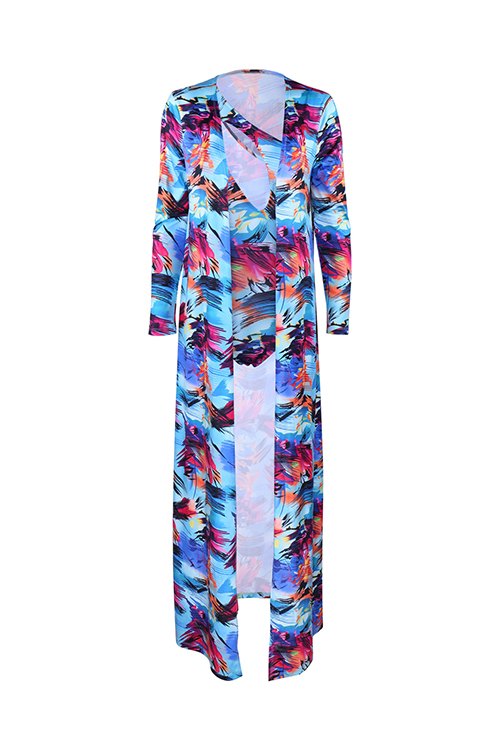 LovelySexy Printed Hollow-out Qmilch Swimwear(Two-piece)