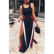 Lovely Sexy High Waist High Fork Black Polyester O