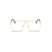 LovelyTrendy Gold Frame PC Sunglasses
