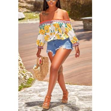 Lovely Trendy High Waist Blue Denim Shorts