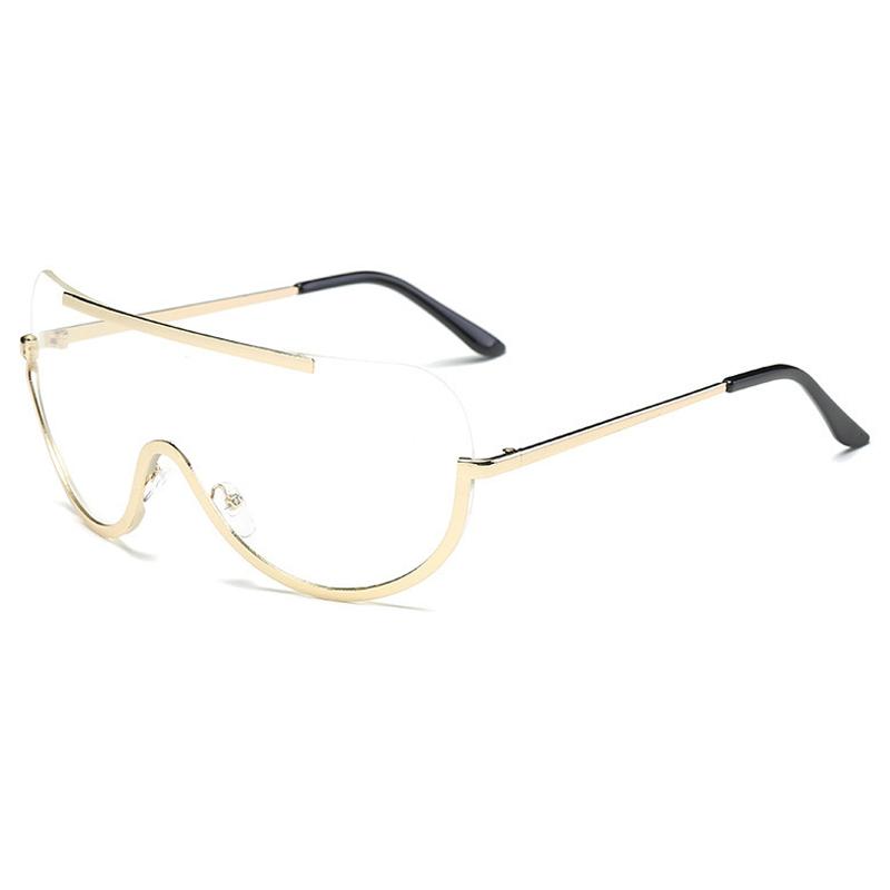 Lovelyeuramerican Durchsichtige Sonnenbrille Aus Metall