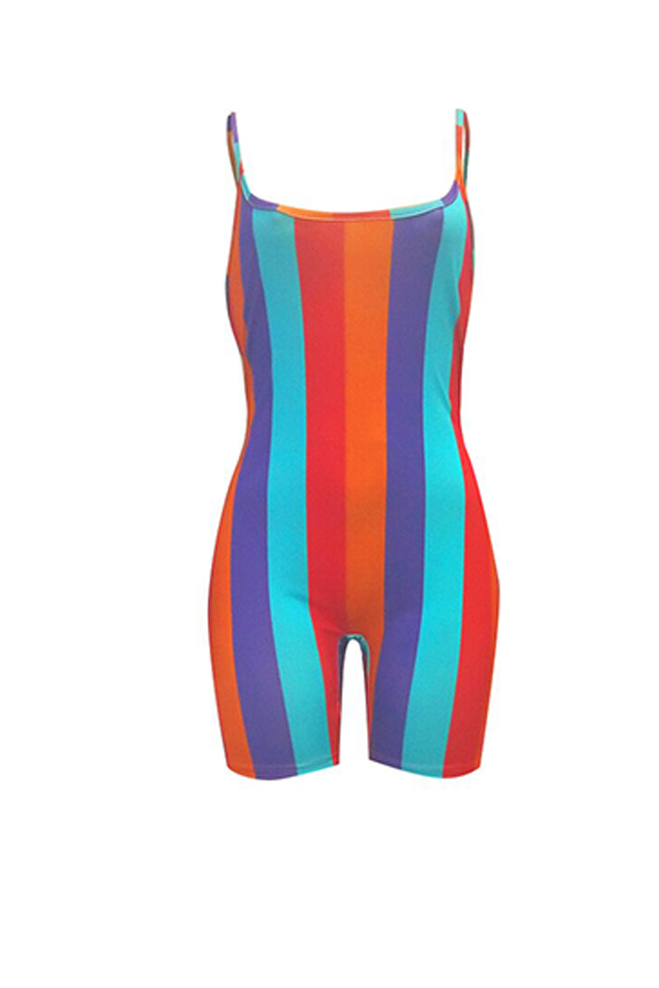 LovelyCasual Striped One-piece Rompers
