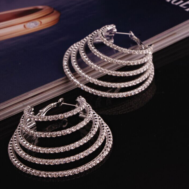 Lovely Euramerican Multilayer Hollow-out Metal Earing