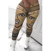 Lovely Chic High Waist Printing Yellow Qmilch Pant