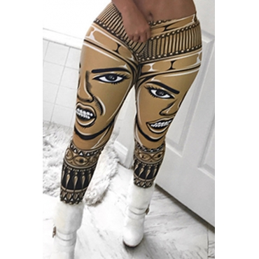 Lovely Chic High Waist Printing Yellow Qmilch Pants