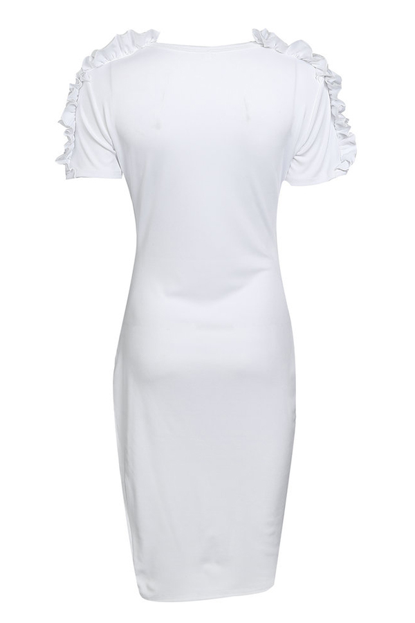 Lovely Leisure    Falbala Design   White   Mini Dress
