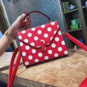 Lovely Fashion Dots Printed   Red Clutches Bags