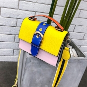 Lovely Fashion Contrast Color Yellow Crossbody Bag