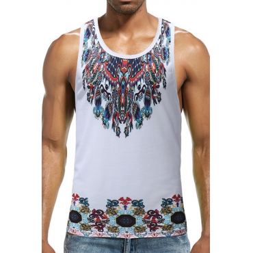 LovelyCasual Floral Printed White Vest