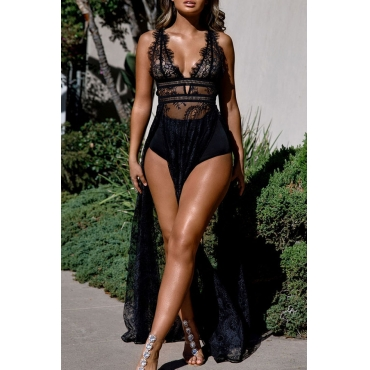 Lovely Leisure Sequined Decorate Black Sheath Mini Dress