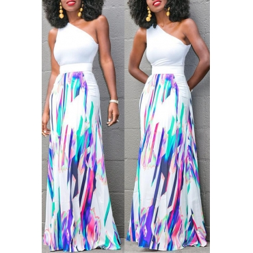 Lovely  Casual Printed Multicolor  Floor Length Skirts
