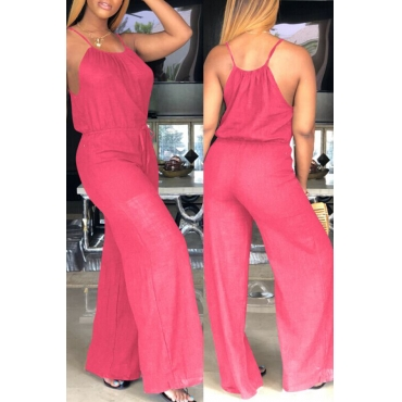 Lovely Euramerican Loose Red One-piece  Jumpsuit