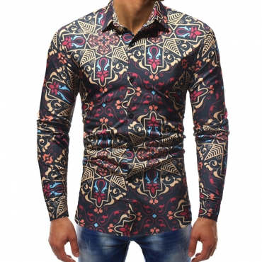 Lovely Casual Printed Multicolor Cotton Blouses